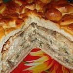 праздничный пирог Курник фото