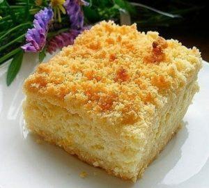 Творожный пирог-ватрушка