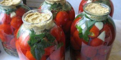 Квашеные помидоры с горчицей отменные