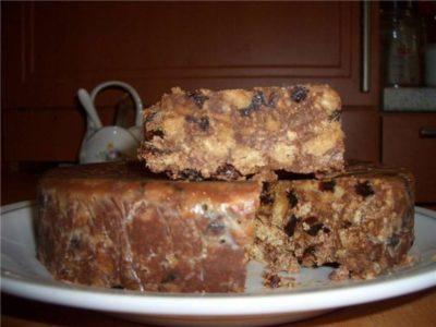 Тортик без выпечки с черносливом