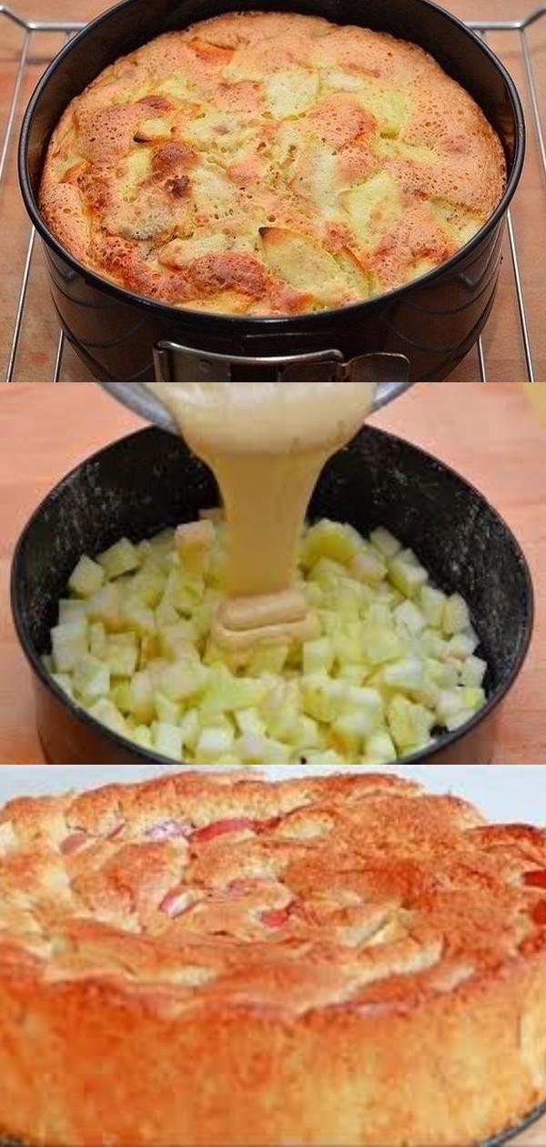 Обалденная шарлотка с яблоками. Справятся с приготовлением даже дети! Готовится быстро, получается вкусно!