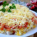 Очень вкусный салатик с крабовыми палочками