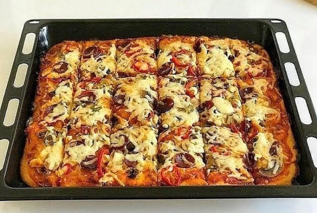Пицца не только быстрая, но и нежная!