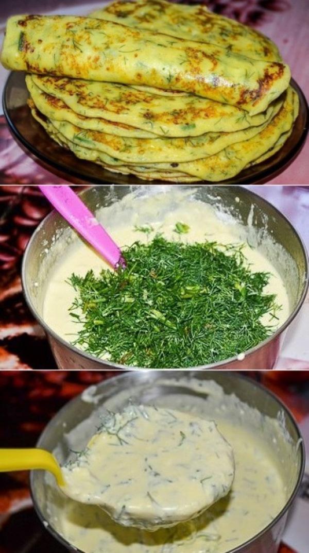 Творожные блины с зеленью получаются очень вкусными! С приготовлением справится даже неопытная хозяйка.