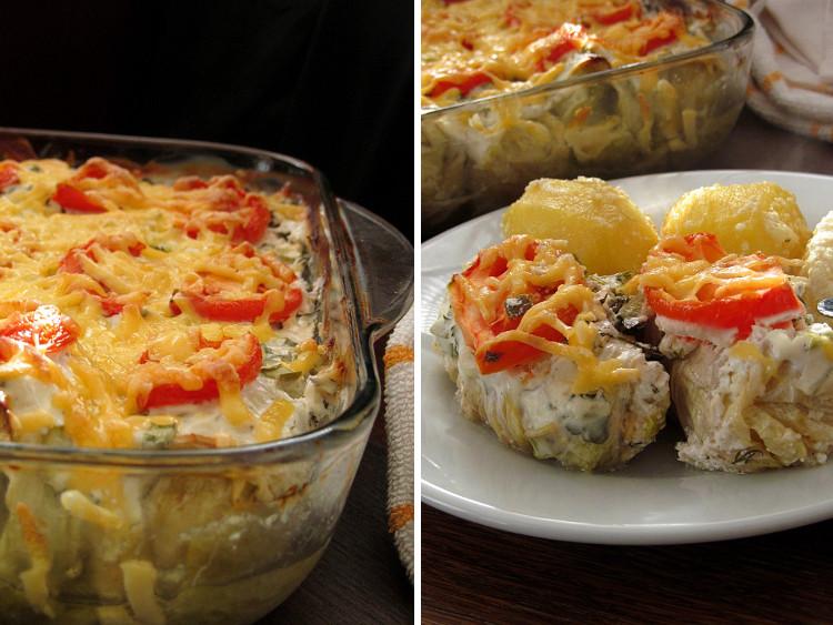 Голубцы из пекинской капусты запеченные под сметанным соусом. Это что-то волшебное! Объеденье!