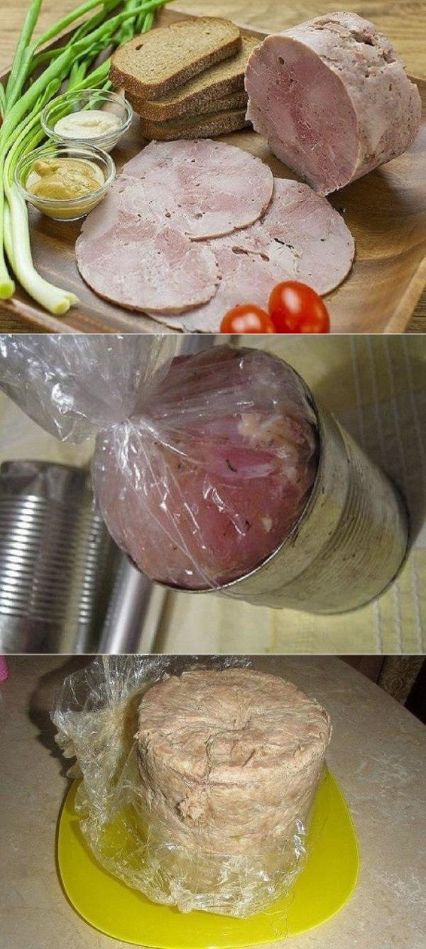 Королевское мясо   Положи в жестяную банку рукав с куриным мясом. Через час ты получишь королевское блюдо!  Повезло, что нашла этот рецепт.