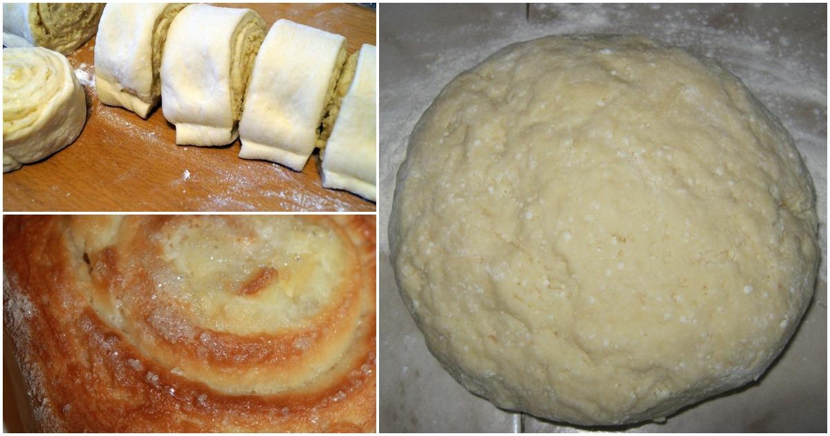 Аппетитные спиральные булочки с творогом без дрожжей и масла