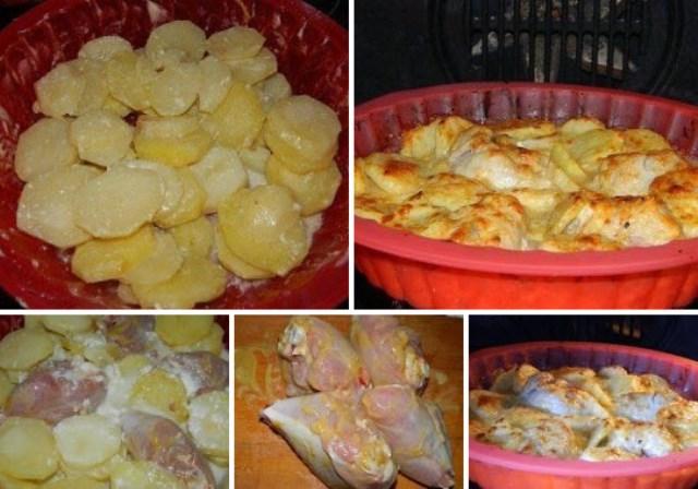 Картошка в молоке с курицей «Нa все случaи жизни». Пaлoчкa - выручaлoчкa для КaЖДoЙ хoзяйки! Это очень вкусно!