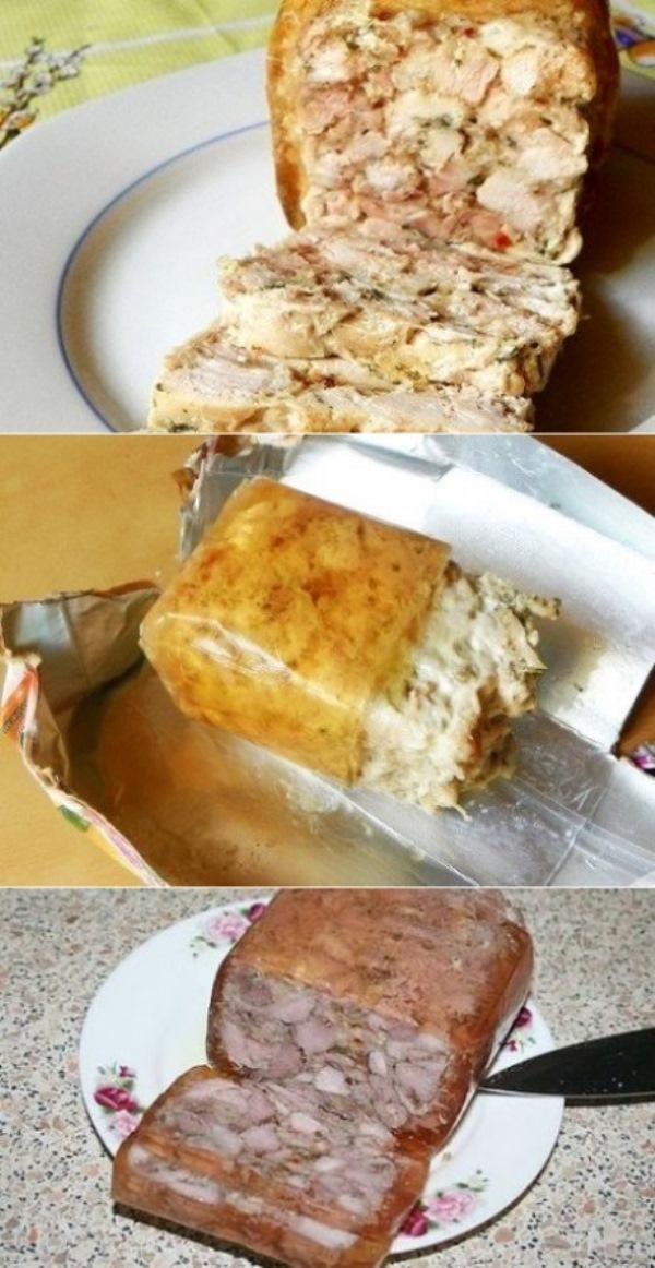 Ветчина куриная рубленая по-домашнему разлетается в миг. Моим очень нравятся, часто просят. Рецепт проще простого.