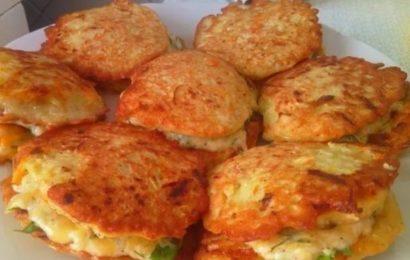 Оладьи из кабачков с сыром и чесноком - вкуснее не бывает