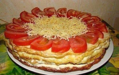Закусочный торт из кабачков - хит этого лета