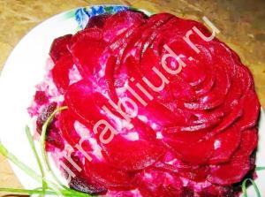 Салат роза фото