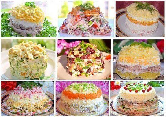 9 рецептов вкусных салатов