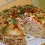 Кабачково-сырный торт фото