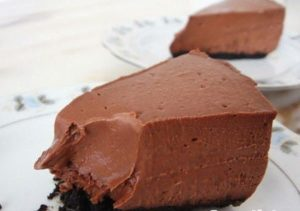 Шоколадный чизкейк для сладкоежек