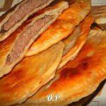 Лепёшки на пивном тесте с мясом