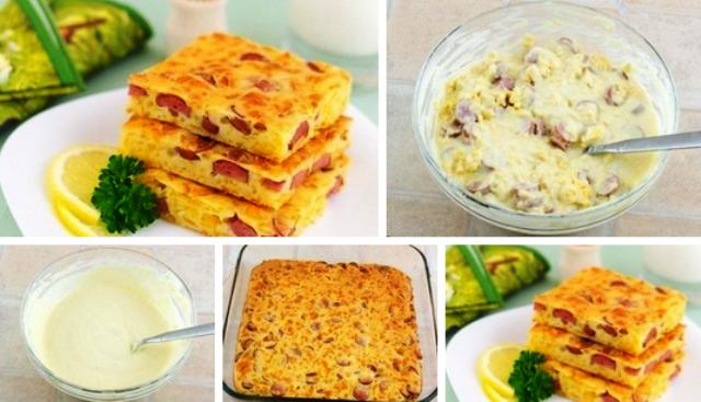 Пирог с сыром и сосисками. БЛЮДО, КОТОРОЕ СРАЗУ СТАНЕТ ФАВОРИТОМ ТВОЕЙ СЕМЬИ!