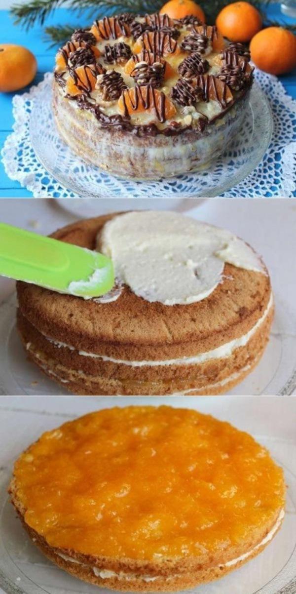 Мандариновый торт! Никто не устоит!