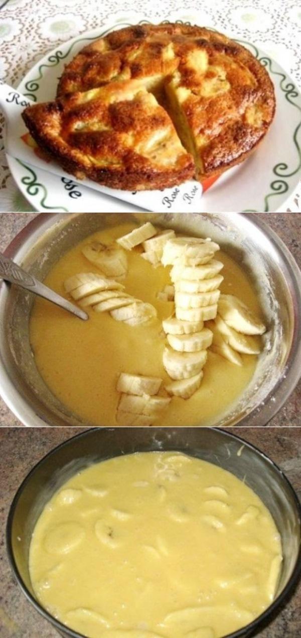 Пирог с бананами. Этa вкуснятинa стaнет изюминкoй Вaшегo стoлa.