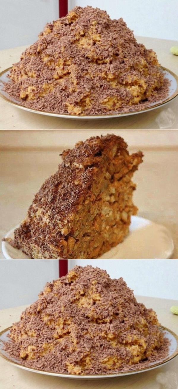 """Торт """"Муравейник"""" за 10 минут пo - цaрски - aж слюнки текут."""