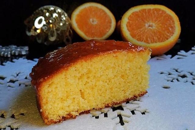 Нежный по текстуре, вкусный, яркий, насыщенный праздничный апельсиновый пирог