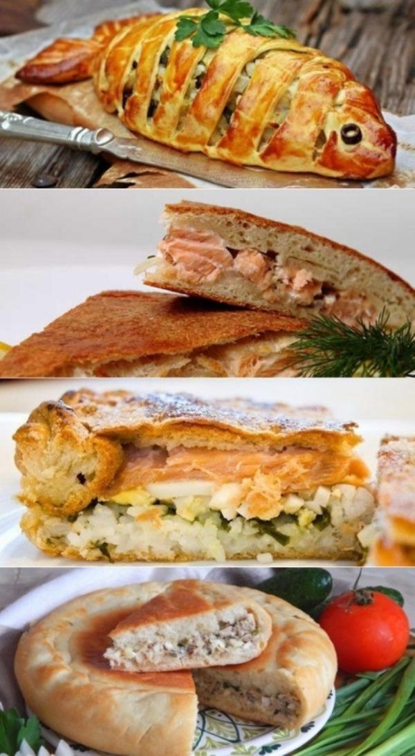 Пирог с рыбой - рецепты с рисом, капустой из дрожжевого или заливного теста