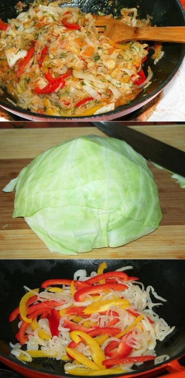 Кулинарный шедевр из простой капусты  Очень вкусный гарнир, подходит практически ко всему и готовить его очень просто и быстро.