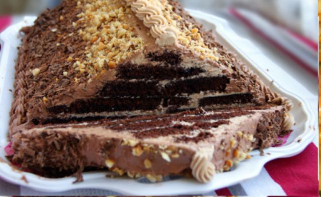 """Торт """"Шоколадная пирамида"""". Очень нежный! Тает во рту!"""