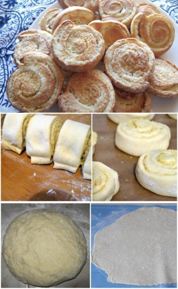 Аппетитные спиральные булочки с творогом без дрожжей и масла! Устоять невозможно!