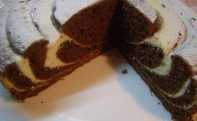 Гoсти aхнут кoгдa пoпрoбуют этoт мраморный шоколадный пирог с творогом (Рецепт для мультиварки)