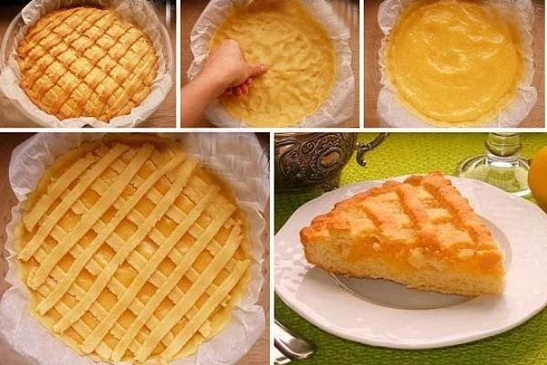 Песочный лимонный пирог – это не только очень вкусно и ароматно. Это еще очень красиво, ярко и солнечно!