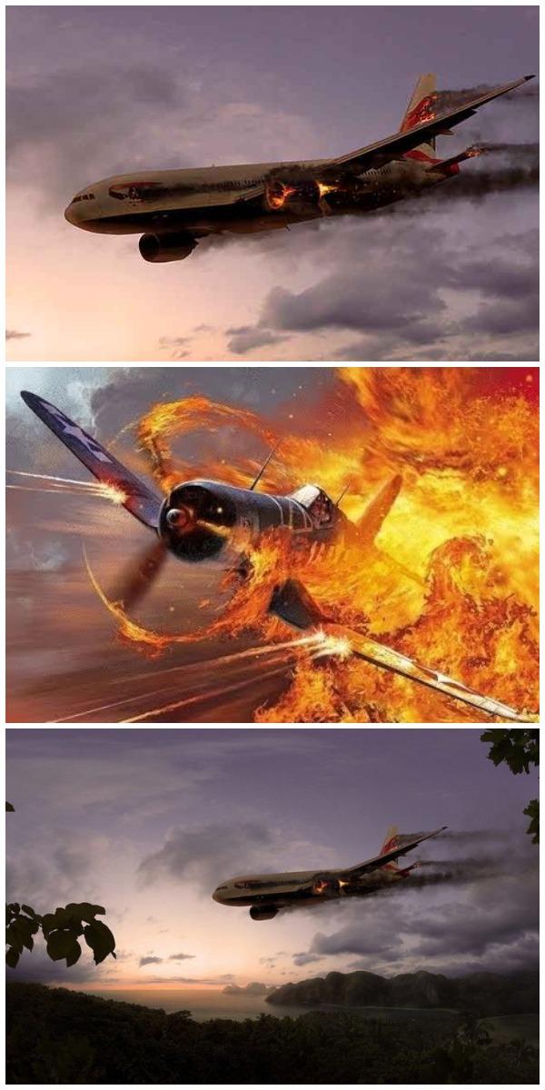 Три человека в падающем самолете сражаются за парашюты. Но, результат их боя просто … Это интересно ..