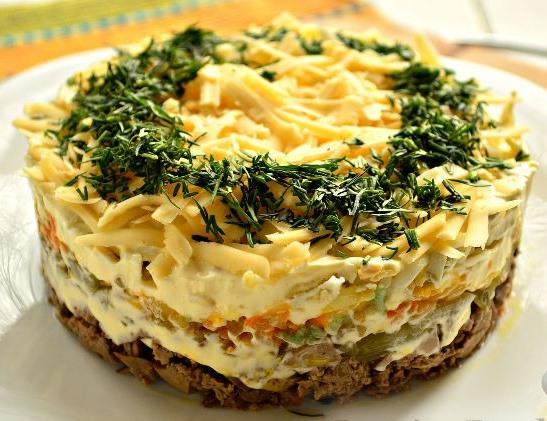 Самый нежный салат с куриной печенью «Неженка». В нашей семье этот салат стал хитом!