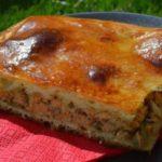 Потрясающий рецепт быстрого рыбного пирога.