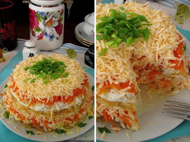Вкуснейший салат «Французский» - рецепт бомба