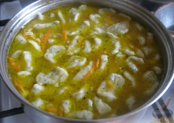 Суп с чесночными галушками. Станет любимым первым блюдом!