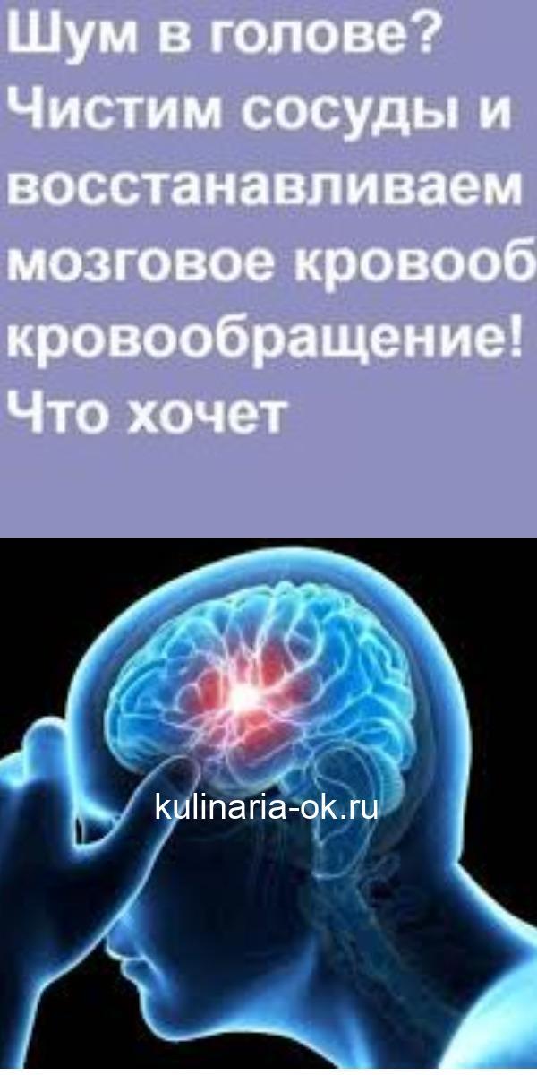 Шум в голове? Чистим сосуды и восстанавливаем мозговое кровообращение!