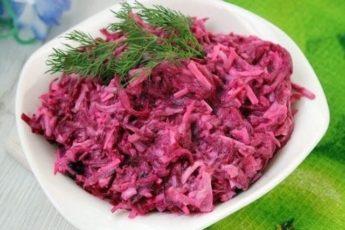 Свекольный салат «Рубиновая нежность»
