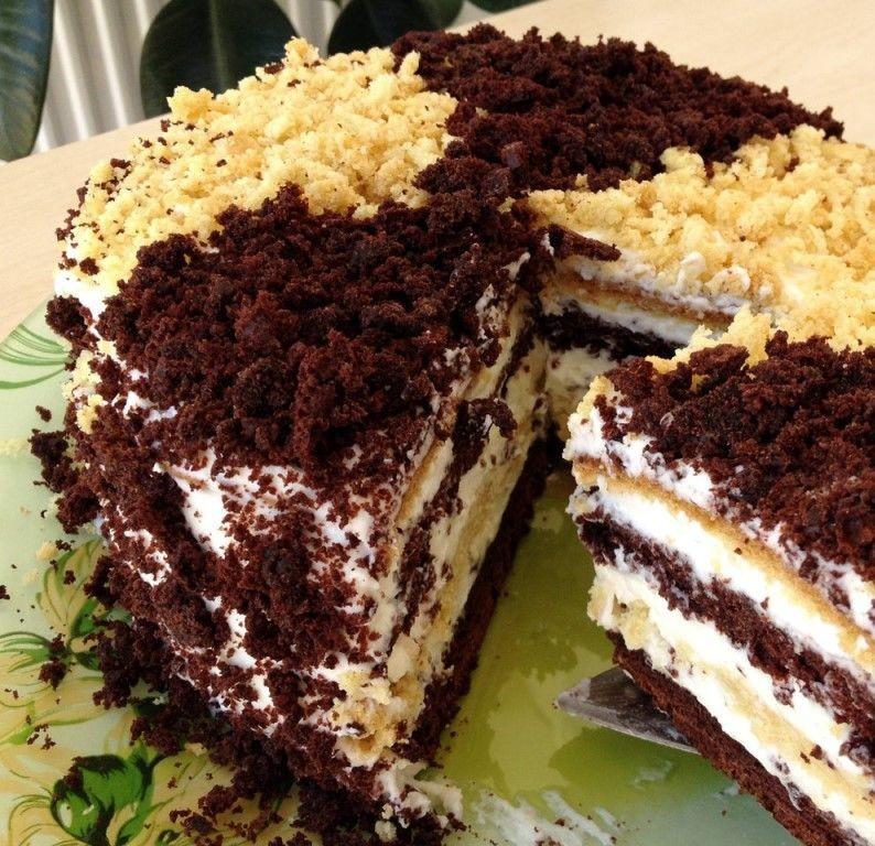 Вкусный сметанный тортик. Рецепт привезен из Италии