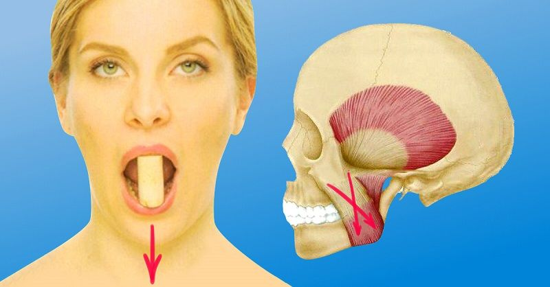 Чтобы подтянуть область вокруг рта, берешь пробку, кладешь между… Разбуди неработающие мышцы 8